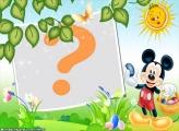 Mickey Entregando Ovos de Páscoa