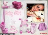 Moldura Ovelhinha Baby Girl