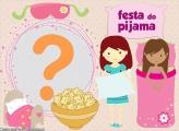 Montagem Festa do Pijama com Foto