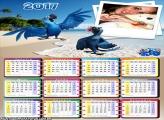 Calendário 2017 Araras Azuis Filme Rio