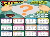 Calendário 2021 Você é Meu Super Herói Montagem