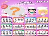 Calendário 2022 Menina Confeiteira Colagem Online
