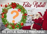 Moldura de Alegria e Prosperidade Feliz Natal