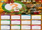 Calendário 2021 Feliz Natal Mensagem