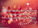 Que Jesus esteja sempre presente