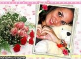 Flores e Quadro I Love You