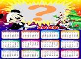 Calendário 2020 Natal do Mickey Foto Moldura