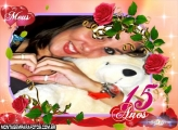 Moldura Meus 15 Anos Rosas
