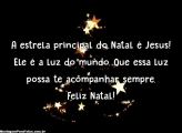 A estrela principal do Natal é Jesus