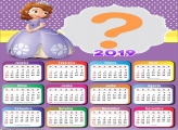 Calendário 2019 Princesa Sofia