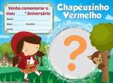 Convite Chapeuzinho Vermelho Cute