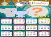 Calendário 2021 Elefantinho Infantil Emoldurar Online