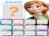 Calendário 2020 Princesa Anna Colagem de Foto