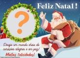 Feliz Natal a Todos Papai Noel Moldura