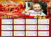 Calendário 2017 Caixas de Presentes Natalino