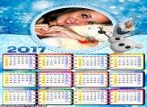 Calendário 2017 Olaf Boneco de Neve Frozen