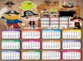 Calendário 2021 com Foto Piratinha Infantil