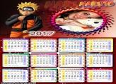 Calendário 2017 Desenho Naruto