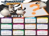 Calendário 2021 Os Pinguins de Madagascar