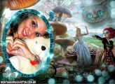 Alice no País das Maravilhas Moldura