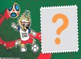 Moldura Mascote Copa da Rússia Lobo Zabivaka
