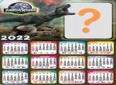 Calendário 2022 Foto Moldura Jurassic World