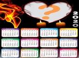 Calendário 2020 Coração e Velas Montagem