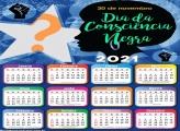 Calendário 2021 20 de Novembro Foto Montagem