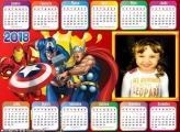 Calendário 2018 Heróis Marvel