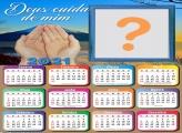 Calendário 2021 Deus Cuida de Mim Montagem de Fotos