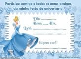 Convite Aniversário da Cinderela Online