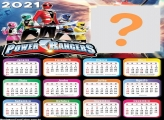 Calendário 2021 Power Rangers Moldura Online