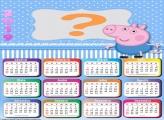 Calendário 2019 George Peppa Pig