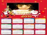 Calendário 2018 Desenho Papai Noel Vermelho