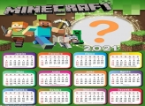 Montar Foto Online Calendário 2021 Minecraft