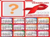 Calendário 2022 Dezembro Vermelho Montar Online