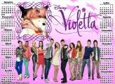 Calendário 2017 Violetta Disney