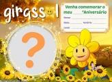Convite Girassol Grátis para Whatsapp