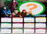Calendário 2019 Descendentes Personagens