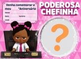 Convite Poderosa Chefinha Morena