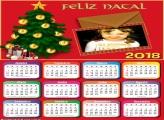 Calendário 2018 Cartão de Natal