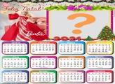Calendário 2021 Barbie de Natal