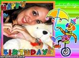 Moldura Happy Birthday Palhaço