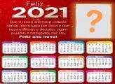 Moldura de Feliz Ano Novo Calendário 2021