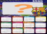 Calendário 2020 Barcelona Time Futebol