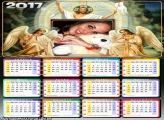 Calendário 2017 Anjos com Jesus
