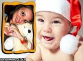 Moldura Bebê Noel