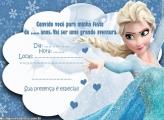 Convite Aniversário da Elsa Frozen