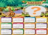 Foto Infantil com Calendário 2021 Safari