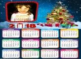 Calendário 2018 para Imprimir de Natal